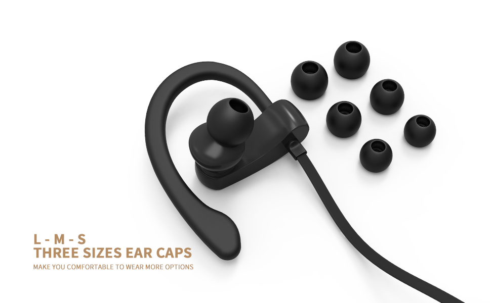 Earbuds with caps