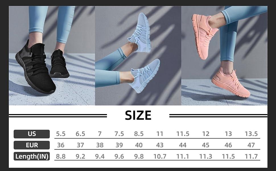 running shoe size chart