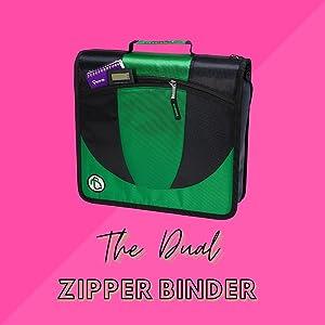 Dual Zipper Binder