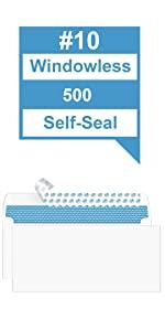#10 Envelope Windowless Self-Seal 500