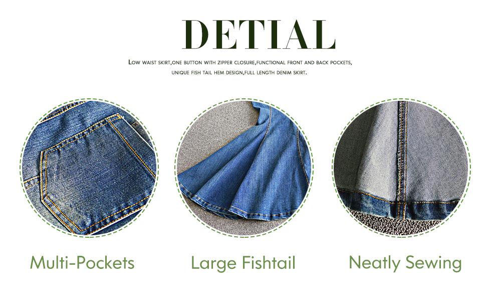 large fishtail skirt for women