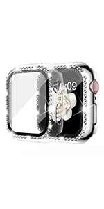 apple watch band with case 38mm silver bling