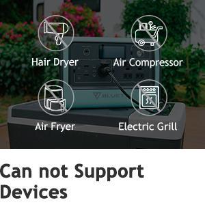 BLUETTI EB70 Portable Generator can not Support Devices