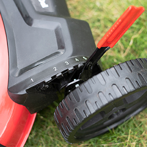 mowing grass height adjustable