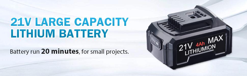 21v large capacity lithium battery