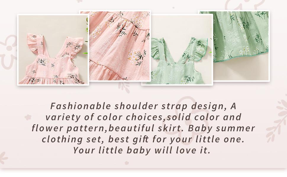 baby floral cotton line dress
