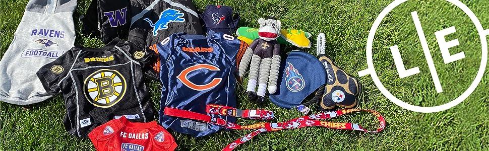 littlearth little earth jersey pet accessories toy jersey cat fan dog leash collar nfl nhl ncaa