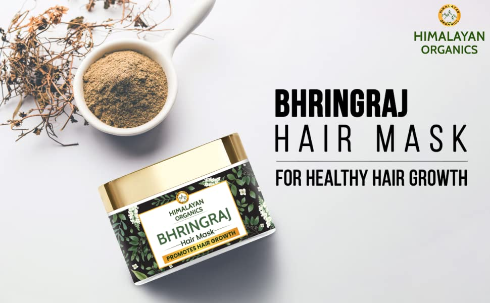 Himalayan Organics Bhringraj Hair Mask for Hair Growth - With Shikakai, Amla & Moringa