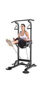 Power Tower Adjustable Height Workout Dip Station