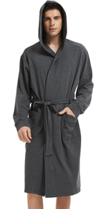 MENS COTTON HOODED ROBE