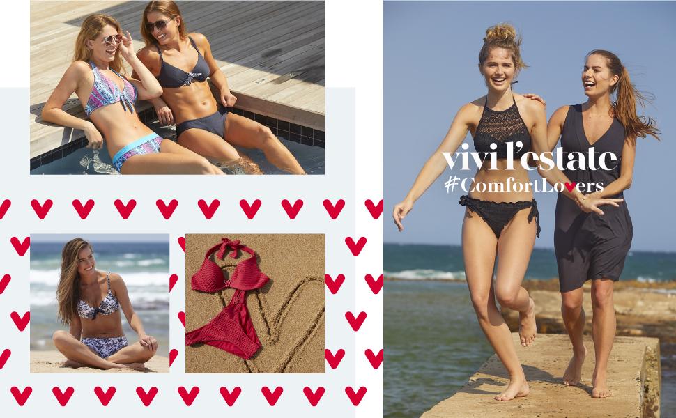 LOVABLE collezione mare 2021 donna: bikini, costumi interi