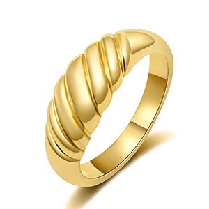 gold croissant rings