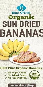 Blue Orchid Organic Sun Dried Bananas
