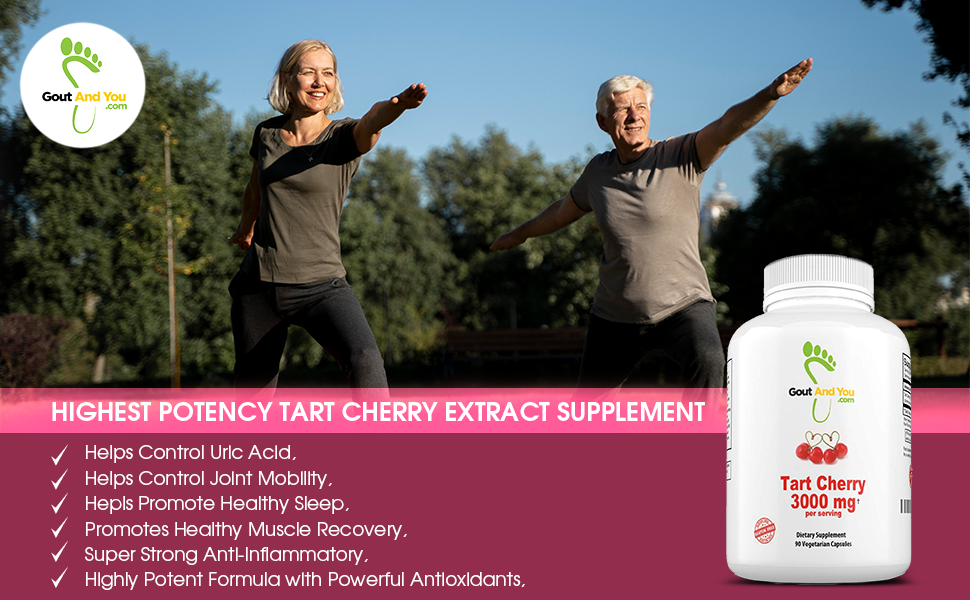 Gout and You Tart Cherry Extract Supplement