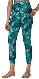 Free Leaper Women 7/8 Length High Waist Leggings with Pockets