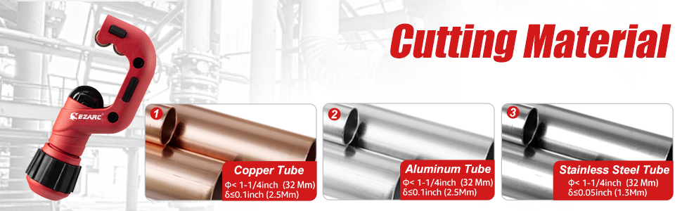 Pipe Cutter Tubing Cutter Heavy Duty Tube Cutter Tool  Cutting Coppe Thin Stainless Steel Tube