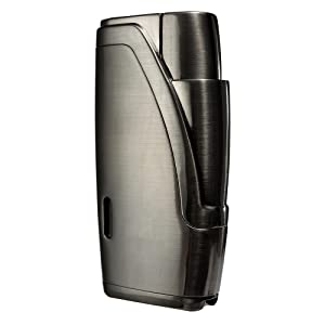 Portable Travel Leather Cigar Case, Cigar Cutter,Cigar Humidor with Cigar Cutter and Humidifier