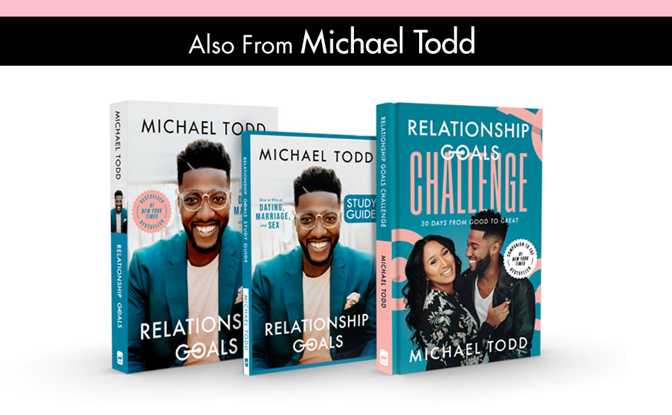 3D covers of Relationship Goals, Relationship Goals Study Guide, and Relationship Goals Challenge