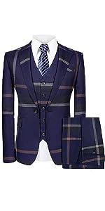 men plaid suit
