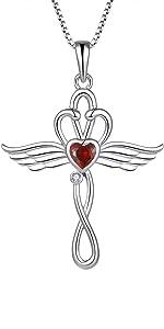 Staechenie Stethoscope Cross Pendant Necklace 925 Sterling Silver