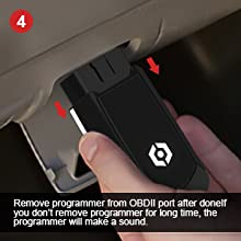 Remove programmer from OBDII port after done
