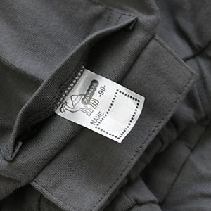 ポケットにはサイズが記載されたお名前ネームと