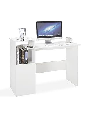 bureau informatique rangement blanc meubles pour enfants