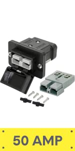 50A Anderson Plug Type Mounting Kit for Towbar Truck DC Panel Battery Boxes