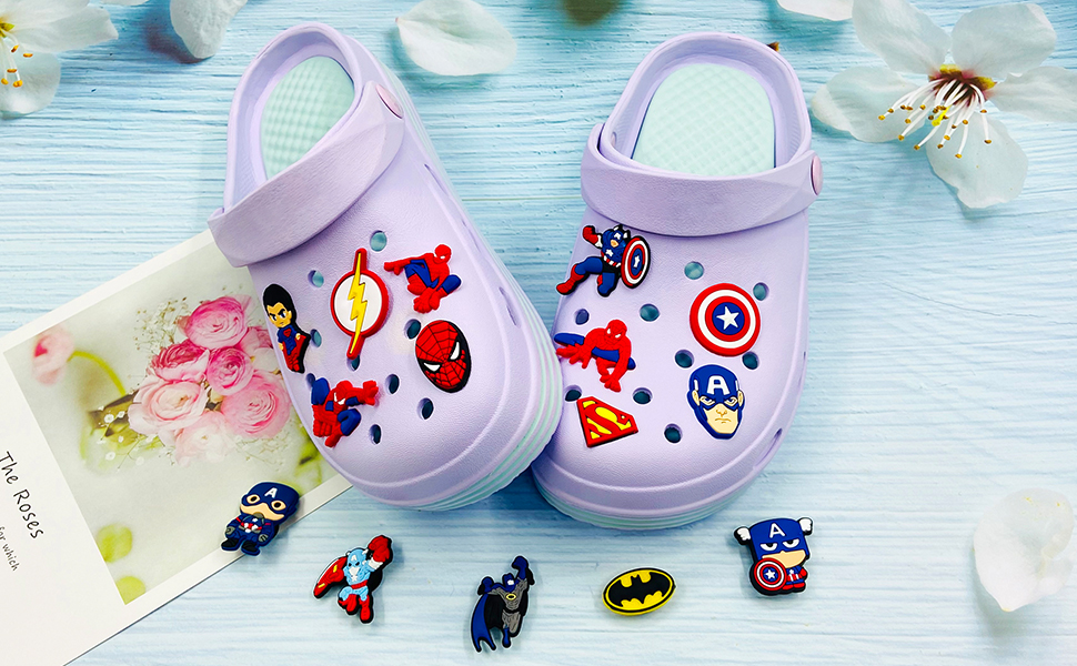 superhero croc charms
