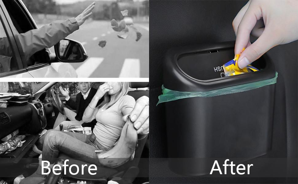 Car trash can mini trash can