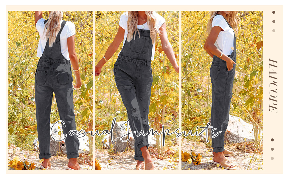 Ripped Distressed Jeans Pants Jumpsuits