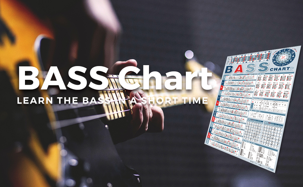 Bass Chord Scale Theory Chart Poster