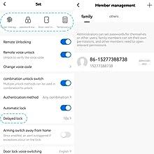 Bluetooth home door lock App Control