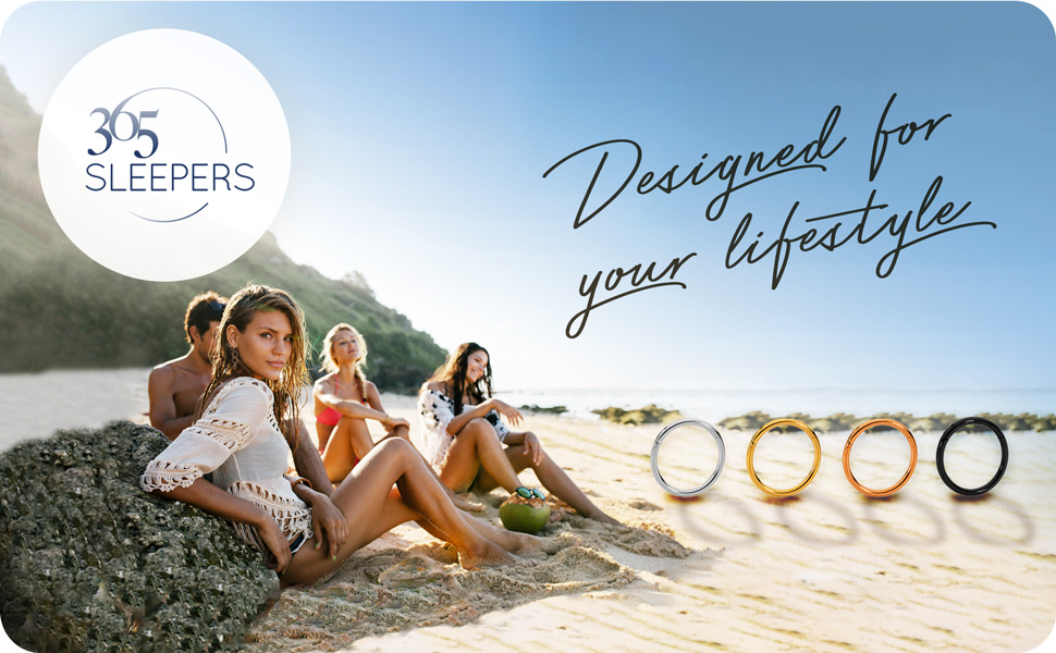 365 Sleepers Designed for your lifestyle Beach banner