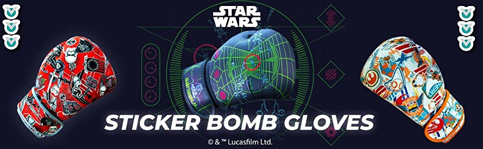 Sticker Bomb Boxing Gloves