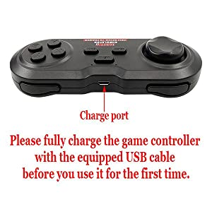 Please fully charge the game controller before you use it for the first time.
