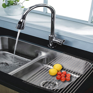 dish drainer over the sink