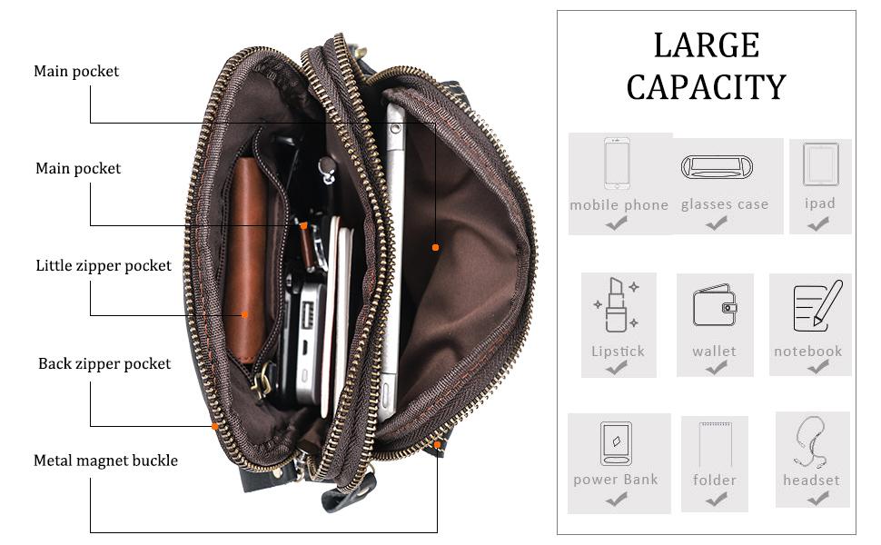 large capacity of messenger bag