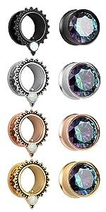 Ear Tunnels Gauges Body Piercing Jewelry