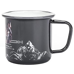 enamel camping mugs grey