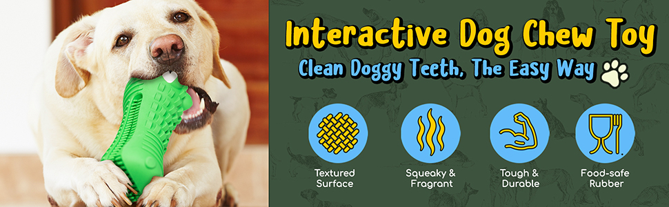 Quality Lyfe Interactive Dog Chew Toy Large Dogs