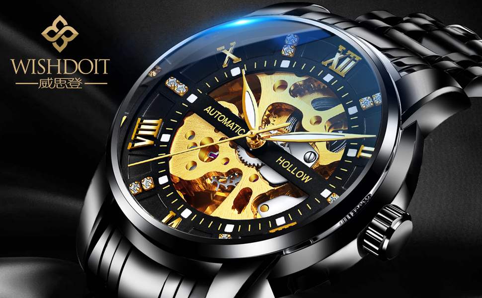 Skeleton mechanical watch hollow skeleton men's watch