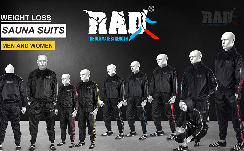 RAD Sauna Suits for Men and Women