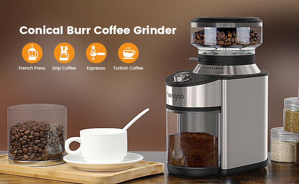 hengbo electric burr coffee grinder