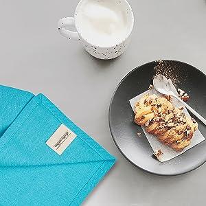 Aqua Cloth Napkin - Dinner Napkins - Napkins Cloth Cotton - Blue Cotton Napkin
