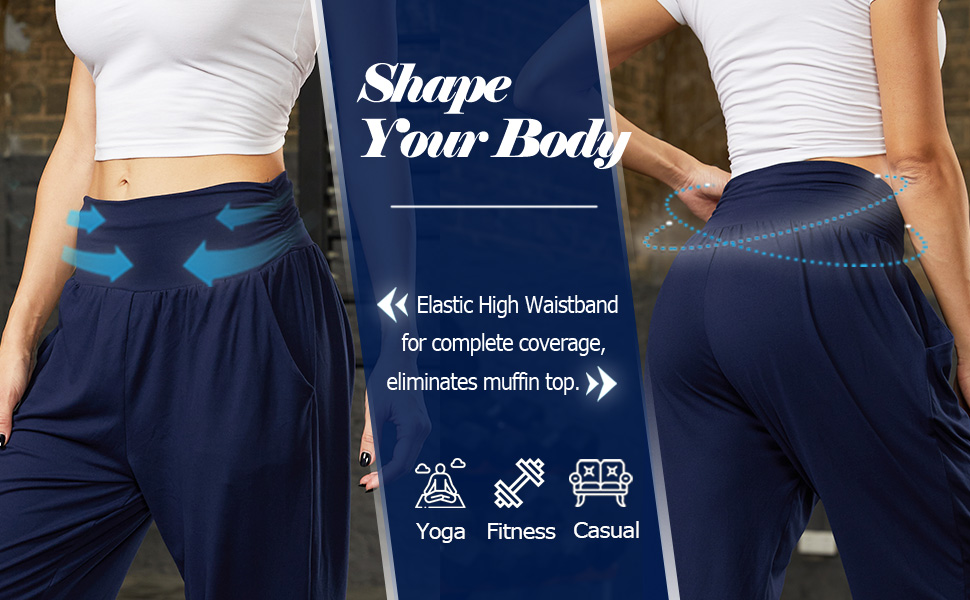 elastic high waistband for complete coverage,eliminates muffin top shape your body
