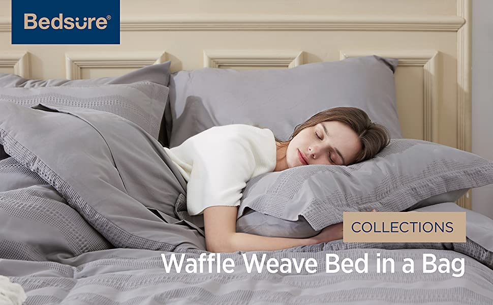 waffle weave bed in a bag