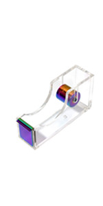 rainbow clear acrylic tape dispenser for desk