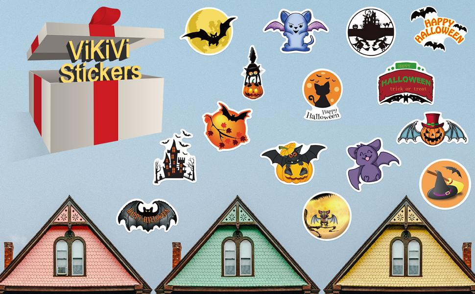 ViKiVi Halloween Stickers 100 Pcs