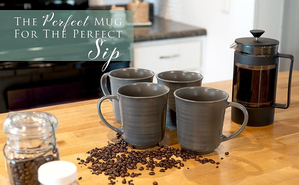 Set of four high quality mugs